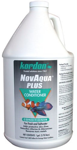 KORDON  #33161  Novaqua Plus-Water Conditioner for Aquarium, 1-Gallon
