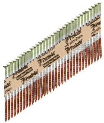 Paslode 650382 Round Head 2 3/8-Inch by .113-Inch by 30 Degree Paper Collated Hot Dipped Galvanized Framing Nail (2,000 per Box)