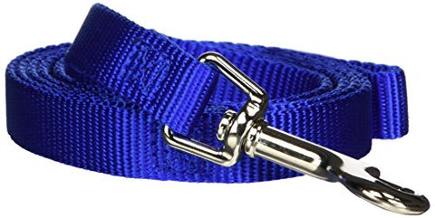 Hamilton Single Thick Deluxe Nylon Lead with Swivel Snap, 5/8-Inch by 4-Feet Long, Blue