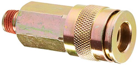 BOSTITCH UC38-14M Universal 3/8-Inch Series Coupler with Push-To-Connect with 1/4-Inch NPT Male Thread