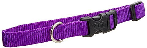 Coastal Pet Products DCP6401PUR 5/8-Inch Nylon Adjustable Dog Collar, Small, Purple