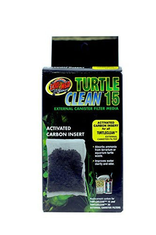 (3 Pack) Zoo Med Turtle Clean 15 Activated Carbon Inserts
