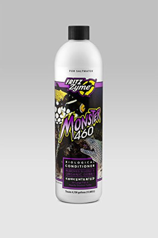 Fritz Aquatics FritzZyme Monster 460 Concentrated Freshwater Biological Aquarium Cleaner, 16-Ounce