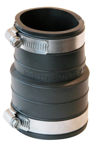 Fernco P1059-22 2-Inch by 2-Inch Rubber Flexible Coupling Repair Fitting