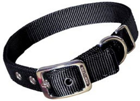 Hamilton Double Thick Nylon Deluxe Dog Collar, 1-Inch by 32-Inch, Black