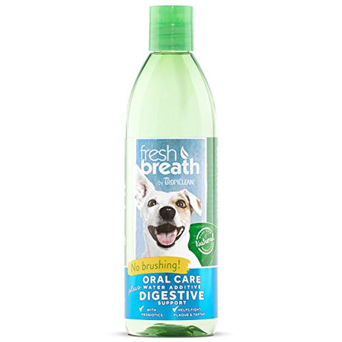TropiClean Fresh Breath Oral Care Water Additive Plus Digestive Support, 16oz