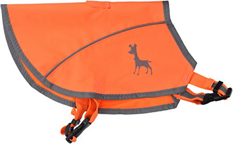 Alcott Visibility Dog Vest with Reflective Trim, Small, Neon Orange