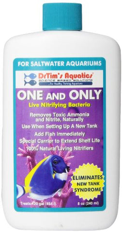 DrTim's Aquatics One & Only Live Nitrifying Bacteria for Cycling Aquaria, Saltwater 8 oz