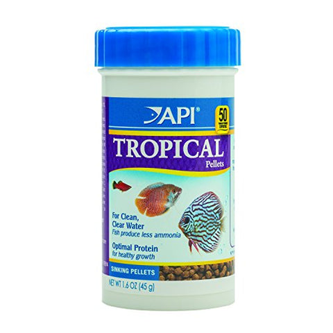 API TROPICAL PELLETS Sinking Pellets Fish Food 1.6-Ounce Container