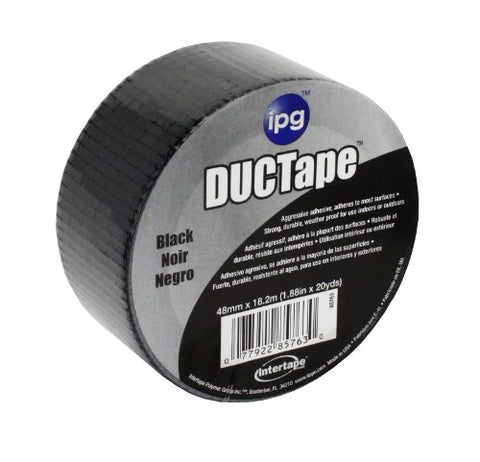 Intertape Polymer Group 6720BLK AC20 9mil Utility Duct Tape, 1.88-Inch x 20-Yard, Black