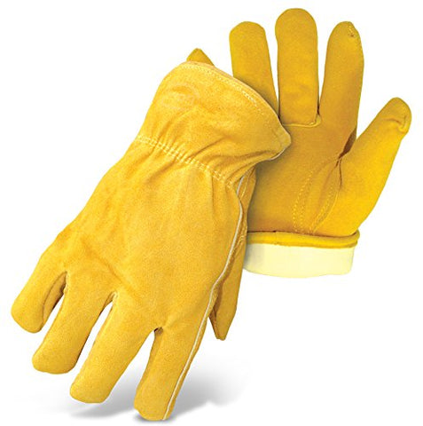 Boss Gloves 7186J Therm Insulated Split Deerskin Leather Driver, Jumbo