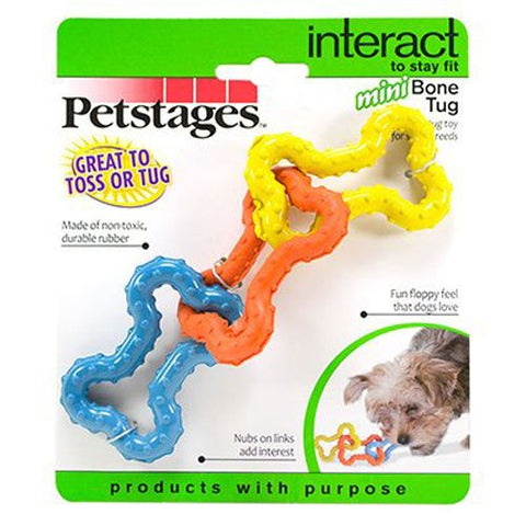 Petstages Tug-o-War Rubber Chew and Fetch Toy for Small Dogs, Dog Tug Toy by