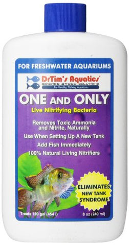 DrTim's Aquatics One & Only Live Nitrifying Bacteria for Cycling Aquaria, Fresh Water, 8-Ounce