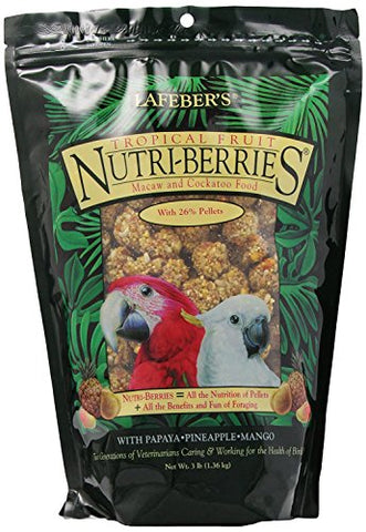 Lafeber Company Tropical Fruit Nutri-Berries for Macaws, 3-Pound