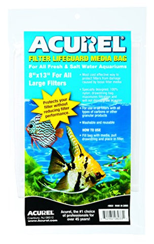 Acurel LLC Filter Drawstring Lifeguard Media Bag, 8-Inch by 13-Inch