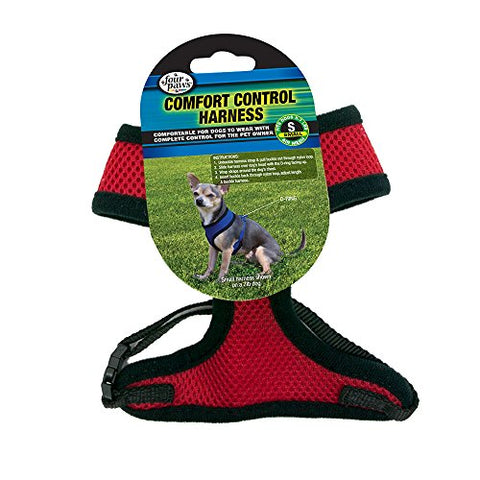 Four Paws Small Red Comfort Control Dog Harness