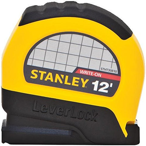 Stanley STHT30810 Lever Lock Tape Rule, 12' x 1/2""