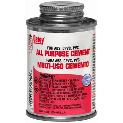 Oatey 30834 All Purpose Cement, Milky Clear, 16-Ounce
