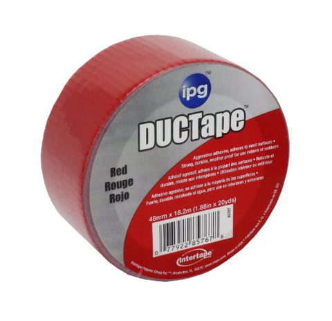 Intertape Polymer Group 6720RED AC20 9mil Utility Duct Tape, 1.88-Inch x 20-Yard, Red