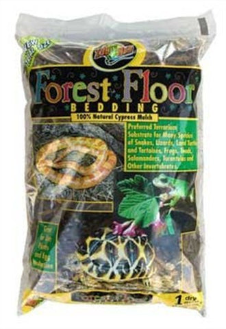 Zoo Med Laboratories SZMCM1 Forest Floor Red Cypress Bedding, 1-Quart