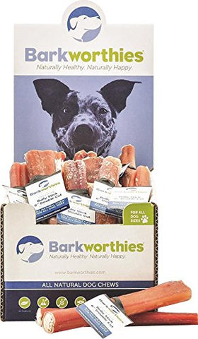 Barkworthies Double Cut Odor-Free Bully Stick, 6""