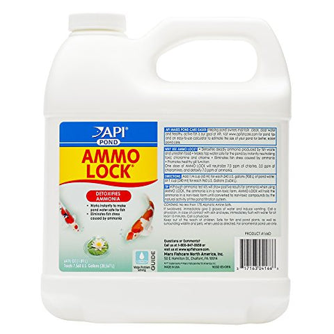 API POND AMMO-LOCK Pond Water Ammonia Detoxifier 64-Ounce Bottle