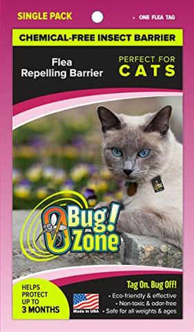 0Bug!Zone Cat Flea Barrier Tag, Single Pack