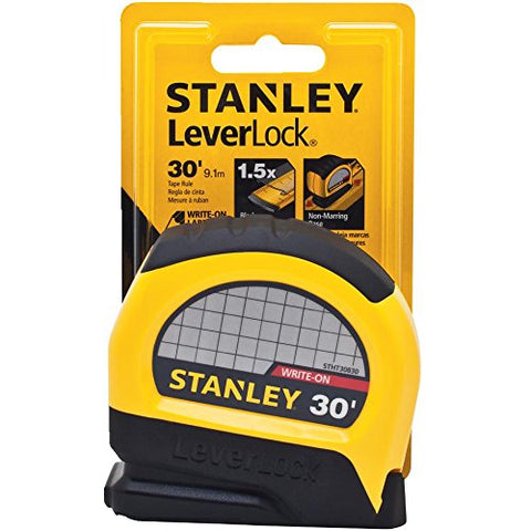 Stanley STHT30830 Lever Lock Tape Rule, 30' x 1""