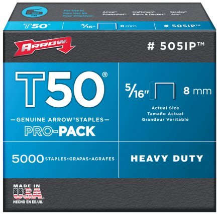 "Arrow Fastener 505IP 5/16"" T50 Staples 5000 Count"