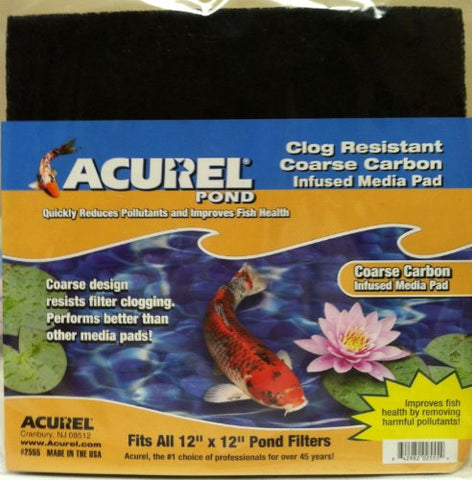 Acurel Coarse Carbon Infused Media Pad, 12-Inch by 12-Inch