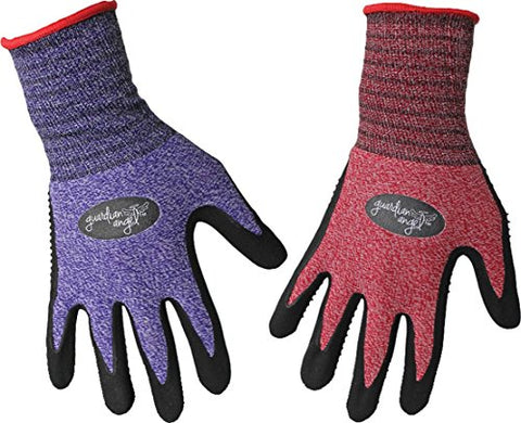 BOSS MANUFACTURING 8444XS 656730 Guardian Angel Dotted Nitrile Palm Knit Wrist Assorted, X-Small, Assorted
