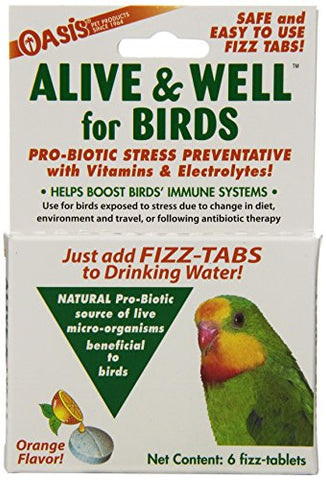 OASIS  #80070  Alive and Well, Stress Preventative & Pro-Biotic Tablets for Birds