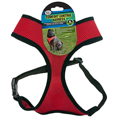 Four Paws Extra Large Red Comfort Control Dog Harness