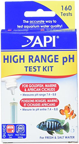 API HIGH RANGE PH TEST KIT 160-Test Freshwater and Saltwater Aquarium Water Test Kit