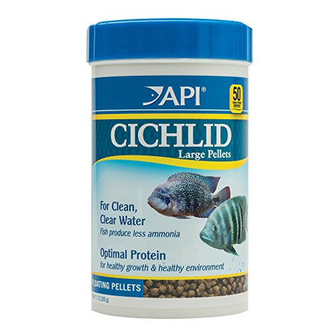 API CICHLID LARGE PELLETS Large Floating Pellets Fish Food 7.1-Ounce Container