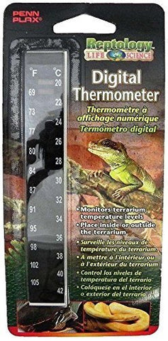 Penn-Plax Reptile High Range Digital Thermometer