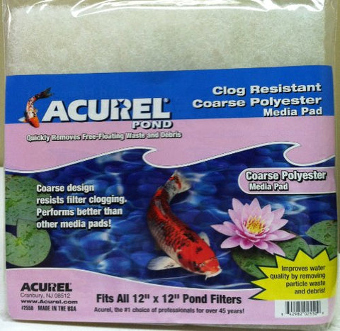 Acurel Coarse Polyester Media Pad, 12-Inch by 12-Inch