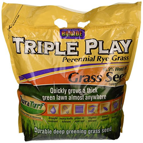 Bonide 60274 Triple Play Rye Grass Seed, 7-Pound