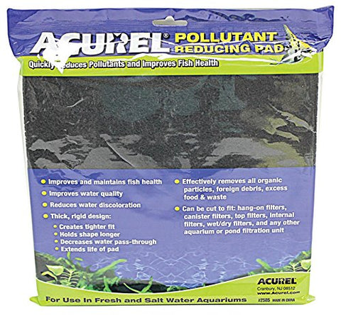Acurel LLC Pollutant Reducing Media Pad, Aquarium and Pond Filter Accessory, 10-Inch by 18-Inch