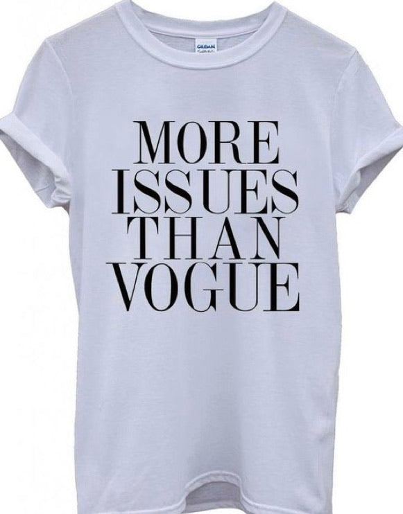 """More Issues Than Vogue"""