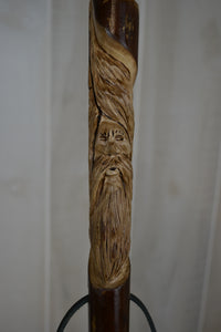 Wood Spirit Carving on Stick