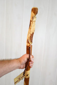Hiking stick with Wood Spirit Carving
