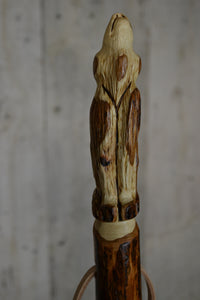 Wolf Hiking Stick by Creation Carvings