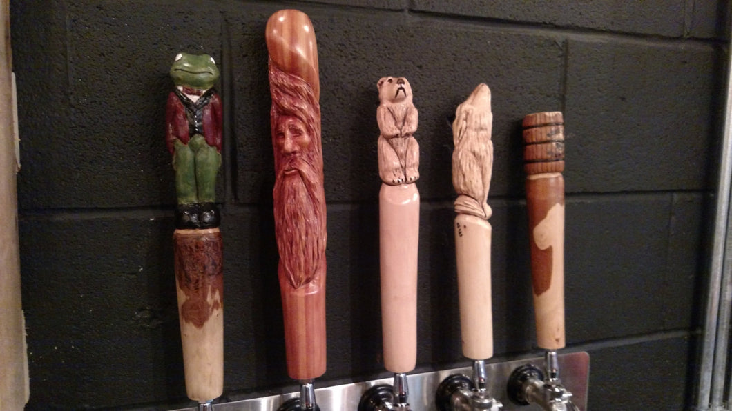 Tap Handle, Beer Tap Handles, Handmade Carved Spigot, Rustic Beer Taps, Lodge, Cabin, Crafter Brewery, Craft, Wood Spirit, Bear, Wolf, Keg