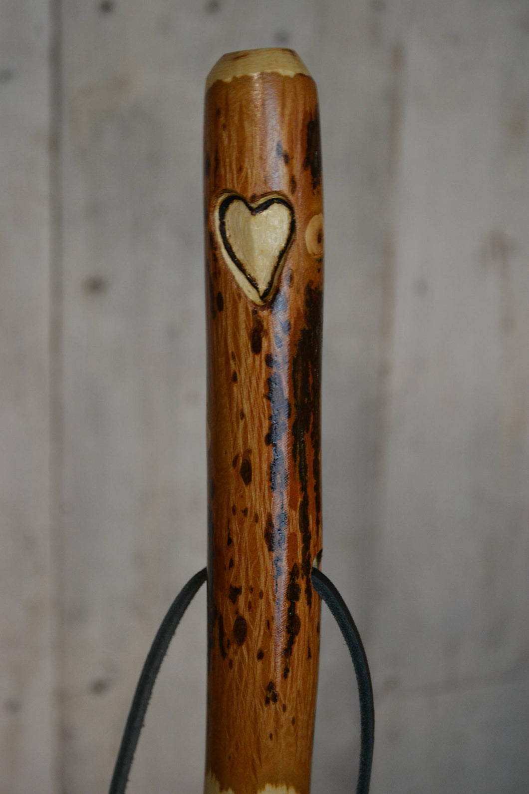 Heart Carving on Hickory Walking Stick, Staff, walkingstick, Kiln Dried, Trecker, Love Carving, 54
