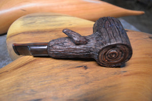 Pipe, Tobacco Pipe, Italian Briar Pipe Hand Carved, Smoking Pipe, Artists Pipe, Tree Looking with Branch, Poker Style