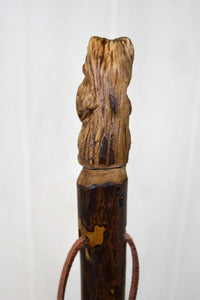Hand Carved Walking Stick, Bear Walking Stick - Grizzly Carving -  Bear Stick - Hiking - Sweetgum Staff