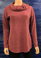 Rust Cowl Knit Top