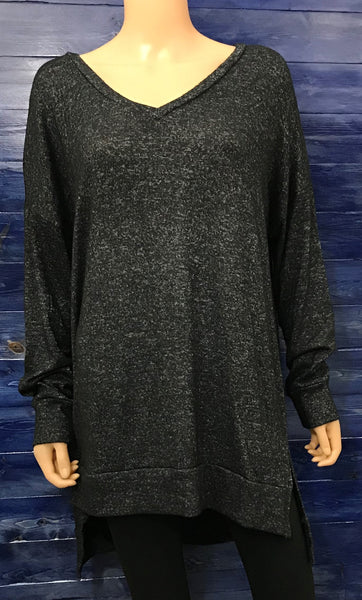 Charcoal Brushed Sweater