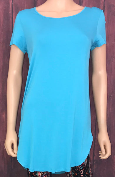 Light Blue Short Sleeve Tunic